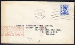 Great Britain London 1954 / Delayed Through Being Posted In A Letter Box For 'country' Letters. Please Advise Sender. - Correo Postal