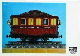 "Carte Postale EPERNAY- WAGON POSTAL - Maquette 1845 Wagon-poste ""Service Des Dépêches""  - Cachet Expostision 1967 - Trains"