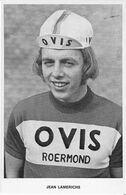 CARTE CYCLISME JEAN LAMERICHS TEAM OVIS 1973 - Wielrennen