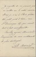 Autographe Auguste Mercier Général Ministre De La Guerre Qui Fit Traduire Dreyfus Devant Conseil De Guerre Pour Trahison - Handtekening