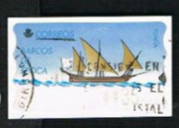 SPAGNA (SPAIN)  -  MI AT19  -  1997  ATM: ANCIENT SHIPS (JABEQUE TAJO)   - USED - 1931-Oggi: 2. Rep. - ... Juan Carlos I