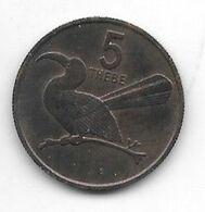 *botswana 5 Thebe 1976  Km 4  Bu/ms65 - Botswana