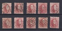 N° 16 : Lot : 10 Timbres Oblitérés Dentelures Diverses - 1863-1864 Medallions (13/16)