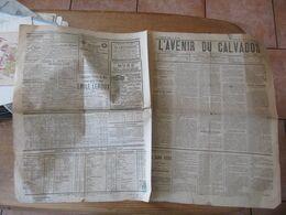 L'AVENIR DU CALVADOS DES 3 ET 4 SEPTEMBRE 1888 LEGALISATION DE LA SIGNATURE PAR LE MAIRE DE CAEN ET CACHET MAIRIE - Zeitungen
