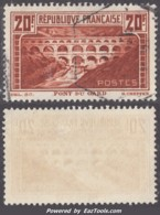 20Fr Pont Du Gard Oblitéré TB (Y&T N° 262A , Type I, Cote 45€) - Gebruikt