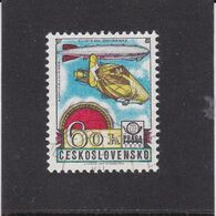 Czechoslovakia / Stamps (1977) L0086 (Air Mail Stamp): PRAGA 78 (Zeppelin 1909, LZ127 1928); Painter: J. Liesler Used - Zeppeline