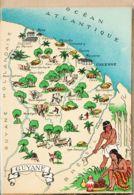 X97035 GUYANE (Titre Blanc) Cayenne Oyapock DOM-TOM Carte Géographique BARRE DAYEZ 1327-O Dépot 1950 CPSM - Non Classificati