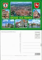 Hameln Panorama-Ansicht, Fußgängerzone, Kirche, Markt, Fluss 1995 - Hameln (Pyrmont)