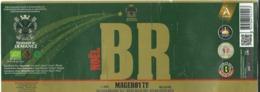 étiquette Décollée Bière Noël B R Brasserie Demanez Sainte-Ode - Beer