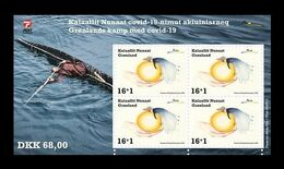 Greenland 2020 Mih. 858C (Bl.97) Fight Against COVID-19 Coronavirus MNH ** - Neufs