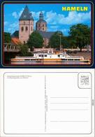 Ansichtskarte Hameln Schiffsanlegestelle, Münsterkirche 1985 - Hameln (Pyrmont)