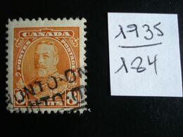 Canada - Année 1935 - George V  8c Rouge-orge - Y.T. 184 - Oblitéré - Used - Gestempeld - Gebraucht