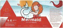 étiquette Décollée Mermaid Brasserie De Jandrain-Jandrenouille - Beer