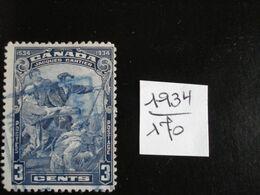 Canada - Année 1934 - Arrivée De Jacques Cartier Au Canada - Y.T. 170 - Oblitéré - Used - Gestempeld - Gebraucht