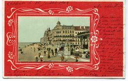 CPA - Carte Postale - Belgique - Ostende - Souvenir D'Ostende - Carte En Relief - La Digue De Mer - 1902 (SVM13799) - Oostende