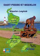 Saint Pierre And Miquelon Map New Postcard Landkarte AK - Saint-Pierre-et-Miquelon
