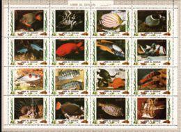 Umm Al-Qiwain 1972 Mi# 1306-1321 A ** MNH - Sheet Of 16 (4 X 4) - Tropical Fish (I) - Umm Al-Qaiwain