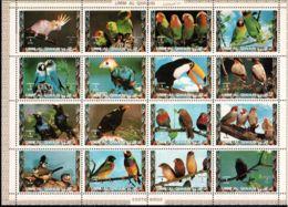 Umm Al-Qiwain 1972 Mi# 1402-1417 A ** MNH - Sheet Of 16 (4 X 4) - Birds - Umm Al-Qaiwain