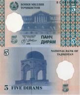 TAJIKISTAN, 5 DIRAMS, 1999, P11, UNC - Tadzjikistan