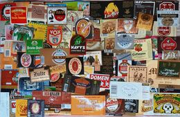 Biere Etiquette Bieretiketten Bier Etiket Beer Label Belgium Lot 012 - Beer