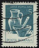 Roumanie 1982 Oblitéré Used Bol Et Pot En Céramique Marginea Suceava SU - Usado