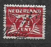 PAYS BAS- Y&T N°371- Pigeon Volant (7½) Oblitéré PLAATFOUT Point Blanc A Coté Du 1 - Errors & Oddities