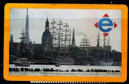 2016  Latvia  - One Way >>> One Mont Ticket - Tramways,trolybus, Bus Tiket  - Old Riga  , Sailing Ship - Europa
