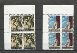 OCB 1564 ==> 1565  ** Postfris Zonder Scharnier In Blok Van 4 - Belgium