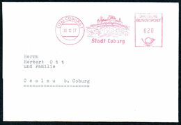 3431 - Oeslau Coburg - Freistempel Freistempler Beleg Bedarfspost - Machine Stamps (ATM)