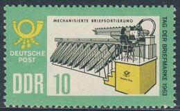 DDR 1963 Mi 998 YT 701 SG E719 ** Letter-sorting Machinel / Briefverteilmaschine - Stamp Day / Tag Der Briefmarke - Post