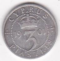 Chypre 3 Piastres 1901 Victoria, En Argent, KM# 4 - Cipro