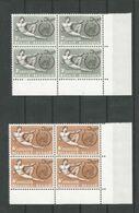 OCB 1231 ==> 1232  ** Postfris Zonder Scharnier In Blok Van 4 - Belgium