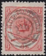 Denmark    .    Yvert         .   13       .         O      .       Cancelled .   /   .  Oblitéré - Used Stamps