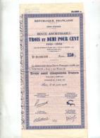 Rente Amortissable Republique France 1942 - Other