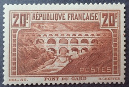 R3586/763 - 1931 - PONT DU GARD - N°262 (IIB) NEUF* - LUXE - BON CENTRAGE - Cote (2020) : 325,00 € - Unused Stamps