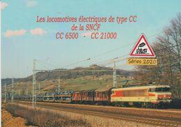 646 - Loco CC 6571 Et Train D'autos Aux Environs Des Laumes (21) - - Trains