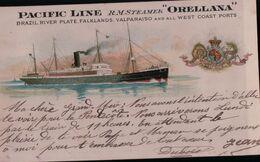 9620  ORELLANA  ECRITE - Dampfer