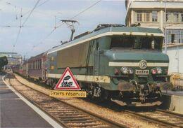 652 - Loco CC 6557 Et Rapide Mistral à Paris-Gare De Lyon (75) - - Bahnhöfe Mit Zügen