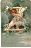 ENGEL ALPHABETH  LETTER  Z  1464 RELIËF  CIRCA 1902 - Angels