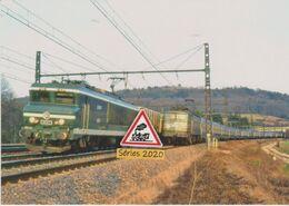 653 - Loco CC 6551 Et Train De Fret Aux Laumes (21) - - Trains