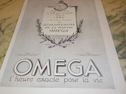ANCIENNE PUBLICITE 40 ANS DEJA MONTRE OMEGA 1934 - Juwelen & Horloges
