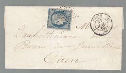 Oblit. - Etoile Muette De Paris - Cachet Paris 13 / 3° -  Cérès  25c Bleu Non Dentelé - 1849-1876: Klassik