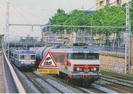 655 - Loco CC 6556 Et Train De Citernes à Lyon (69) - - Eisenbahnen