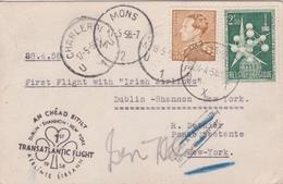 FIRST Transatlantic Flight Dublin - Shannon - New York With Irish Airlines - Airmail