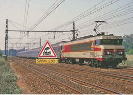 657 - Loco CC 6561 Et Rapide Mistral à Brienon-sur-Armançon (89) - - Brienon Sur Armancon