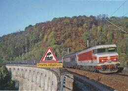 660 - Loco CC 21002 Et Train Cisalpin à Montigny-les-Arsures (39) - - Trains