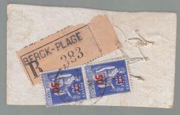 Oblit. - Petit Carton Expédié En Recommandé De Berck-Plage - Probablement Des Boutons - Anecdotique - 1849-1876: Klassik