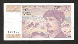 France - 20 Francs - 1988 - No: V 023 250123 - Debussy - Used Condition - 1962-1997 ''Francs''