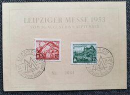 DDR 1953, Gedenkblatt LEIBZIGER MESSE Mi 380-81 - Covers & Documents