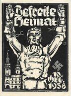 1938 - MORAVSKA TREBOVA  Deutsche Propagande , Gute Zustand, 2 Scan - Tsjechië